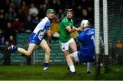 7 March 2020; Shaun O'Brien of Waterford saves a shot on goal by David Dempsey of Limerick during the Allianz Hurling League Division 1 Group A Round 3 match between Limerick and Waterford at LIT Gaelic Grounds in Limerick. Photo by Eóin Noonan/Sportsfile