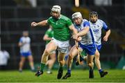 7 March 2020; Cian Lynch of Limerick is tackled by Shane McNulty of Waterford during the Allianz Hurling League Division 1 Group A Round 3 match between Limerick and Waterford at LIT Gaelic Grounds in Limerick. Photo by Eóin Noonan/Sportsfile