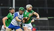 7 March 2020; Cian Lynch of Limerick is tackled by Jamie Barron of Waterford during the Allianz Hurling League Division 1 Group A Round 3 match between Limerick and Waterford at LIT Gaelic Grounds in Limerick. Photo by Eóin Noonan/Sportsfile