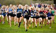 7 March 2020; A general view of runners competing in the Minor Girls race during the Irish Life Health All-Ireland Schools Cross Country Championships at Santry Demesne in Santry, Dublin. Photo by David Fitzgerald/Sportsfile