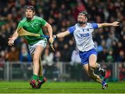 7 March 2020; David Dempsey of Limerick in action against Conor Gleeson of Waterford during the Allianz Hurling League Division 1 Group A Round 3 match between Limerick and Waterford at LIT Gaelic Grounds in Limerick. Photo by Eóin Noonan/Sportsfile