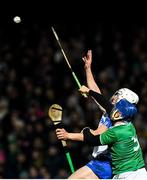 7 March 2020; Jack Fagan of Waterford contests a high ball with Mike Casey of Limerick during the Allianz Hurling League Division 1 Group A Round 3 match between Limerick and Waterford at LIT Gaelic Grounds in Limerick. Photo by Eóin Noonan/Sportsfile
