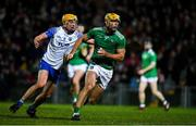 7 March 2020; Dan Morrissey of Limerick in action against Jack Prendergast of Waterford during the Allianz Hurling League Division 1 Group A Round 3 match between Limerick and Waterford at LIT Gaelic Grounds in Limerick. Photo by Eóin Noonan/Sportsfile