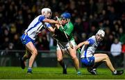7 March 2020; Mike Casey of Limerick is tackled by Neil Montgomery of Waterford during the Allianz Hurling League Division 1 Group A Round 3 match between Limerick and Waterford at LIT Gaelic Grounds in Limerick. Photo by Eóin Noonan/Sportsfile