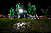 7 March 2020; Shamrock Rovers players warm-up ahead of the SSE Airtricity League Premier Division match between Sligo Rovers and Shamrock Rovers at The Showgrounds in Sligo. Photo by Stephen McCarthy/Sportsfile