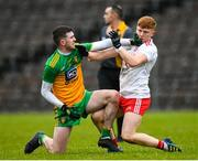 7 March 2020; Luke Gavigan of Donegal and James McCann of Tyrone tussle during the EirGrid Ulster GAA Football U20 Championship Final match between Tyrone and Donegal at St Tiernach's Park in Clones, Monaghan. Photo by Oliver McVeigh/Sportsfile