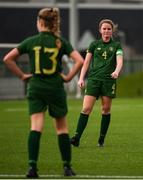 7 March 2020; Jessie Stapleton of Republic of Ireland, right, and Tara O'Hanlon dejected following the Women's Under-15s John Read Trophy match between Republic of Ireland and England at FAI National Training Centre in Dublin. Photo by Sam Barnes/Sportsfile