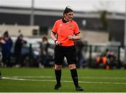 7 March 2020; Referee Katie Hall during the Women's Under-15s John Read Trophy match between Republic of Ireland and England at FAI National Training Centre in Dublin. Photo by Sam Barnes/Sportsfile