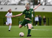 7 March 2020; Katie Law of Republic of Ireland during the Women's Under-15s John Read Trophy match between Republic of Ireland and England at FAI National Training Centre in Dublin. Photo by Sam Barnes/Sportsfile