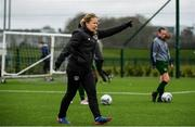 7 March 2020; Republic of Ireland coach Emma Mullin ahead of the Women's Under-15s John Read Trophy match between Republic of Ireland and England at FAI National Training Centre in Dublin. Photo by Sam Barnes/Sportsfile