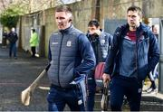 8 March 2020; Aidan Harte, left, and Gearoid McInerney of Galway arrive ahead of the Allianz Hurling League Division 1 Group A Round 3 match between Galway and Tipperary at Pearse Stadium in Salthill, Galway. Photo by Sam Barnes/Sportsfile
