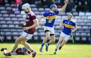 8 March 2020; John McGrath of Tipperary celebrates after scoring his side's first goal during the Allianz Hurling League Division 1 Group A Round 3 match between Galway and Tipperary at Pearse Stadium in Salthill, Galway. Photo by Sam Barnes/Sportsfile