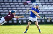 8 March 2020; John McGrath of Tipperary shoots to score his side's first goal despite the efforts of Paul Killeen of Galway during the Allianz Hurling League Division 1 Group A Round 3 match between Galway and Tipperary at Pearse Stadium in Salthill, Galway. Photo by Sam Barnes/Sportsfile