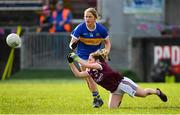 8 March 2020; Shauna Molloy of Galway and Emer McCarthy of Tipperary during the 2020 Lidl Ladies National Football League Division 1 Round 5 match between Galway and Tipperary at Tuam Stadium in Tuam, Galway. Photo by Ramsey Cardy/Sportsfile