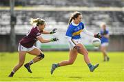 8 March 2020; Brid Condon of Tipperary and Andrea Trill of Galway during the 2020 Lidl Ladies National Football League Division 1 Round 5 match between Galway and Tipperary at Tuam Stadium in Tuam, Galway. Photo by Ramsey Cardy/Sportsfile
