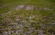 8 March 2020; A detailed view of the pitch conditions ahead of the EA Sports Cup First Round match between Cabinteely and Crumlin United at Stradbrook in Blackrock, Dublin. Photo by Ben McShane/Sportsfile