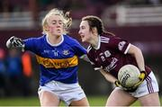 8 March 2020; Chelsie Crowe of Galway and Emma Morrissey of Tipperary during the 2020 Lidl Ladies National Football League Division 1 Round 5 match between Galway and Tipperary at Tuam Stadium in Tuam, Galway. Photo by Ramsey Cardy/Sportsfile