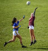8 March 2020; Lynsey Noone of Galway and Roisin Daly of Tipperary during the 2020 Lidl Ladies National Football League Division 1 Round 5 match between Galway and Tipperary at Tuam Stadium in Tuam, Galway. Photo by Ramsey Cardy/Sportsfile