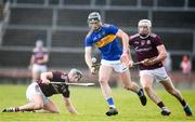 8 March 2020; Dillon Quirke of Tipperary in action against Aidan Harte, left, and Cathal Mannion of Galway during the Allianz Hurling League Division 1 Group A Round 3 match between Galway and Tipperary at Pearse Stadium in Salthill, Galway. Photo by Sam Barnes/Sportsfile