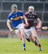8 March 2020; Dillon Quirke of Tipperary in action against Cathal Mannion of Galway during the Allianz Hurling League Division 1 Group A Round 3 match between Galway and Tipperary at Pearse Stadium in Salthill, Galway. Photo by Sam Barnes/Sportsfile