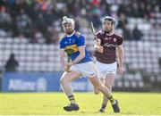 8 March 2020; Ger Browne of Tipperary in action against Padraic Mannion of Galway during the Allianz Hurling League Division 1 Group A Round 3 match between Galway and Tipperary at Pearse Stadium in Salthill, Galway. Photo by Sam Barnes/Sportsfile