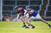 8 March 2020; Sean Loftus of Galway in action against John O'Dwyer of Tipperary during the Allianz Hurling League Division 1 Group A Round 3 match between Galway and Tipperary at Pearse Stadium in Salthill, Galway. Photo by Sam Barnes/Sportsfile