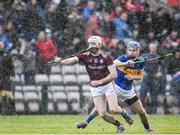 8 March 2020; Cathal Mannion of Galway in action against John McGrath of Tipperary during the Allianz Hurling League Division 1 Group A Round 3 match between Galway and Tipperary at Pearse Stadium in Salthill, Galway. Photo by Sam Barnes/Sportsfile