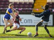 8 March 2020; Lynsey Noone of Galway shoots wide past Tipperary goalkeeper Lauren Fitzpatrick during the 2020 Lidl Ladies National Football League Division 1 Round 5 match between Galway and Tipperary at Tuam Stadium in Tuam, Galway. Photo by Ramsey Cardy/Sportsfile
