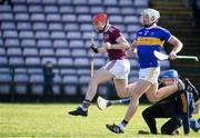 8 March 2020; Conor Whelan of Galway celebrates after scoring his side's first goal during the Allianz Hurling League Division 1 Group A Round 3 match between Galway and Tipperary at Pearse Stadium in Salthill, Galway. Photo by Sam Barnes/Sportsfile