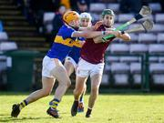 8 March 2020; Conor Cooney of Galway in action against Ronan Maher, left, and Paul Maher of Tipperary during the Allianz Hurling League Division 1 Group A Round 3 match between Galway and Tipperary at Pearse Stadium in Salthill, Galway.  Photo by Sam Barnes/Sportsfile