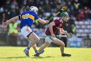 8 March 2020; Conor Cooney of Galway in action against Paul Maher of Tipperary during the Allianz Hurling League Division 1 Group A Round 3 match between Galway and Tipperary at Pearse Stadium in Salthill, Galway. Photo by Sam Barnes/Sportsfile