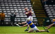 8 March 2020; Conor Whelan of Galway shoots to score his side's second goal despite the efforts of Padraic Maher of Tipperary during the Allianz Hurling League Division 1 Group A Round 3 match between Galway and Tipperary at Pearse Stadium in Salthill, Galway. Photo by Sam Barnes/Sportsfile