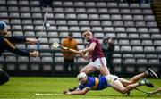 8 March 2020; Conor Whelan of Galway shoots to score his side's second goal despite the efforts of Padraic Maher, right, and goalkeeper Brian Hogan of Tipperary during the Allianz Hurling League Division 1 Group A Round 3 match between Galway and Tipperary at Pearse Stadium in Salthill, Galway. Photo by Sam Barnes/Sportsfile