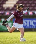 8 March 2020; Roisin Leonard of Galway shoots to score her side's first goal from a penalty during the 2020 Lidl Ladies National Football League Division 1 Round 5 match between Galway and Tipperary at Tuam Stadium in Tuam, Galway. Photo by Ramsey Cardy/Sportsfile
