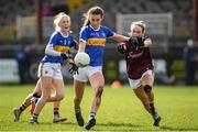 8 March 2020; Caitlin Kennedy of Tipperary in action against Andrea Trill of Galway during the 2020 Lidl Ladies National Football League Division 1 Round 5 match between Galway and Tipperary at Tuam Stadium in Tuam, Galway. Photo by Ramsey Cardy/Sportsfile