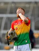 8 March 2020; Richard Coady of Carlow following his side's defeat during the Allianz Hurling League Division 1 Relegation Play-Off match between Westmeath and Carlow at TEG Cusack Park in Mullingar, Westmeath. Photo by Seb Daly/Sportsfile
