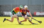 8 March 2020; Robbie Greville of Westmeath in action against Paul Doyle of Carlow during the Allianz Hurling League Division 1 Relegation Play-Off match between Westmeath and Carlow at TEG Cusack Park in Mullingar, Westmeath. Photo by Seb Daly/Sportsfile
