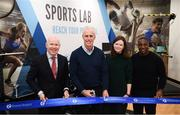 28 February 2020; Republic of Ireland manager Mick McCarthy with Michael Cullen, CEO of Beacon Hospital, left, Ailish Daly, Clinical Specialist Oncology, Beacon Hospital, and Republic of Ireland assistant manager Terry Connor, right, during the launch of new Sports Lab at the Beacon Hospital in Sandyford, Dublin. Photo by Stephen McCarthy/Sportsfile
