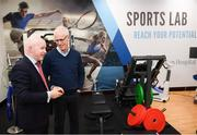 28 February 2020; Republic of Ireland manager Mick McCarthy and Michael Cullen, CEO of Beacon Hospital, during the launch of new Sports Lab at the Beacon Hospital in Sandyford, Dublin. Photo by Stephen McCarthy/Sportsfile