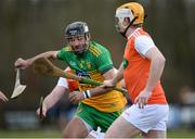8 March 2020; Joe Boyle of Donegal in action against Eoin McGuinness of Armagh during the Allianz Hurling League Round 3A Final match between Armagh and Donegal at Páirc Éire Óg in Carrickmore, Tyrone. Photo by Oliver McVeigh/Sportsfile