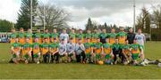 8 March 2020; The Donegal squad before the Allianz Hurling League Round 3A Final match between Armagh and Donegal at Páirc Éire Óg in Carrickmore, Tyrone. Photo by Oliver McVeigh/Sportsfile