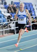 8 March 2020; Joe Gough of West Waterford AC competing in the M65 400m event during the Irish Life Health National Masters Indoors Athletics Championships at Athlone IT in Athlone, Westmeath. Photo by Piaras Ó Mídheach/Sportsfile