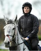 9 March 2020; Rachael Blackmore with Petit Mouchoir on the gallops ahead of the Cheltenham Racing Festival at Prestbury Park in Cheltenham, England. Photo by Harry Murphy/Sportsfile
