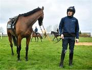 9 March 2020; Ruby Walsh with Chacun Pour Soi on the gallops ahead of the Cheltenham Racing Festival at Prestbury Park in Cheltenham, England. Photo by David Fitzgerald/Sportsfile
