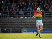 8 March 2020; Martin Kavanagh of Carlow scores a point during the Allianz Hurling League Division 1 Relegation Play-Off match between Westmeath and Carlow at TEG Cusack Park in Mullingar, Westmeath. Photo by Seb Daly/Sportsfile