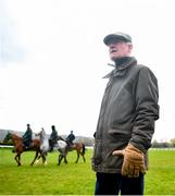 9 March 2020; Trainer Willie Mullins on the gallops ahead of the Cheltenham Racing Festival at Prestbury Park in Cheltenham, England. Photo by David Fitzgerald/Sportsfile
