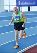 8 March 2020; Michael Kiely of Rising Sun AC, Cork, competing in the M75 200m event during the Irish Life Health National Masters Indoors Athletics Championships at Athlone IT in Athlone, Westmeath. Photo by Piaras Ó Mídheach/Sportsfile