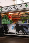 9 March 2020; A general view of a pharmacy in the racecourse ahead of the Cheltenham Racing Festival at Prestbury Park in Cheltenham, England. Photo by Harry Murphy/Sportsfile