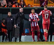 7 March 2020; Ryan De Vries of Sligo Rovers comes onto the pitch during a first half substitution to replace his team-mate Teemu Penninkangas during the SSE Airtricity League Premier Division match between Sligo Rovers and Shamrock Rovers at The Showgrounds in Sligo. Photo by Stephen McCarthy/Sportsfile