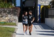 10 March 2020; Republic of Ireland's Clare Shine and Katie McCabe during a walk in Petrovac, Montenegro, ahead of their side's UEFA Women's 2021 European Championships Qualifier. Photo by Stephen McCarthy/Sportsfile
